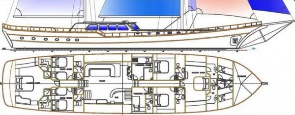 ARIF KAPTAN A План яхты