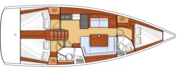 Oceanis 41 (port Gocek) Layout