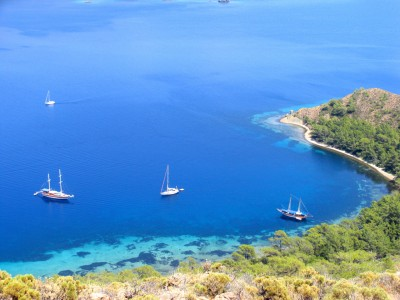 Gulet Mini Blue cruises on Turkish Coasts