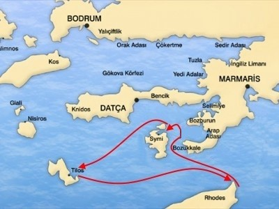 Rhodes-South Dodecanese Cruise (ALL INCL) Map