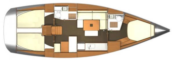 Dufour 405 GL (port Gocek) Layout