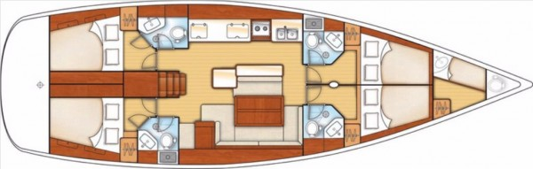 Oceanis 50 Family (port Gocek)  Layout