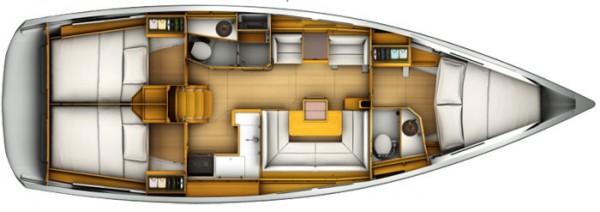 Sun Odyssey 409 (порт Геджек) План яхты