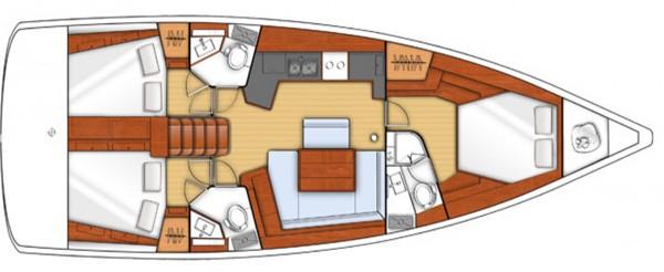Oceanis 45 - 2014 (port Gocek) Layout